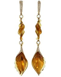 Inbar - Carved Citrine Drop Earrings - Lyst