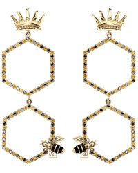 Alison Lou - Queen Bee Drop Earring - Lyst