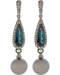 Inbar - Green Tourmaline Earrings - Lyst