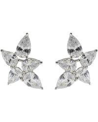 Fantasia Jewelry - Pear Shaped Cluster Earrings - Lyst