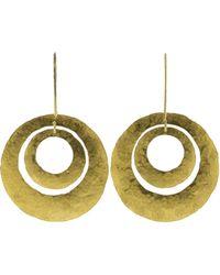 Boaz Kashi - Gold Disc Earrings - Lyst