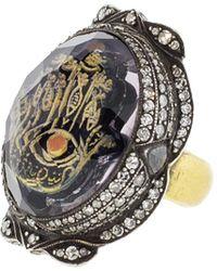 Sevan Biçakci - Carved Hamsa Ring In Amethyst - Lyst