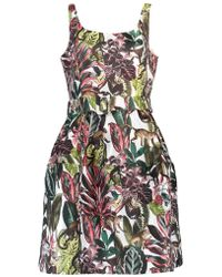 Oscar de la Renta - Jacquard Tank Dress - Lyst