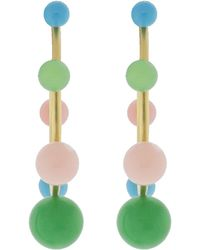 Irene Neuwirth - Turquoise Chrysoprase Pink Opal Earrings - Lyst