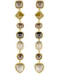 Todd Reed - Fancy Diamond Drop Earrings - Lyst
