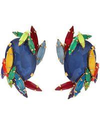 Erickson Beamon - Rhinestone Splash Earrings - Lyst
