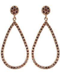 Yossi Harari - Lilah Brown-diamond Drop Earrings - Lyst