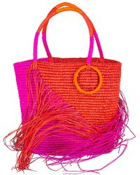 Sensi Studio - Medium Two-tone Fringe Tote - Lyst