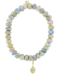 Sydney Evan - Diamond Pave Tennis Raquet Charm Bracelet - Lyst