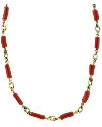 Sylva & Cie - Coral Bead Necklace - Lyst