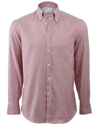 Brunello Cucinelli - Gingham Spread Collar Shirt - Lyst