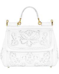 Dolce   Gabbana - Sicily Medium Top Handle Bag - Lyst 8278bc64b7e25