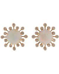 Dana Rebecca - White Opal Stud Earrings - Lyst