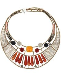 Ziio - Incas Large Multi-stone Necklace - Lyst