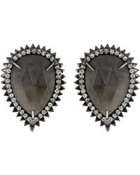 Eva Fehren - Sapphire And Diamond Auto Stud Earrings - Lyst