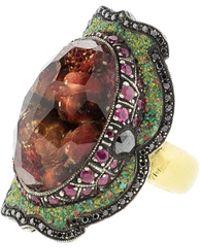 Sevan Biçakci - Carved Pomegranate Ring In Citrine - Lyst