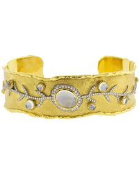 Victor Velyan - Moonstone And Diamond Cuff Bracelet - Lyst