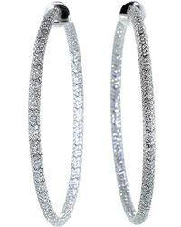 Mattia Cielo | Rugiada Micro Pave Diamond Hoop | Lyst