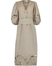 Zimmermann - Juno Embroidered Yoke Dress - Lyst