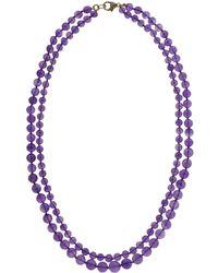 Sylva & Cie - Amethyst Double Strand Beaded Necklace - Lyst