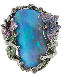 Wendy Yue Butterfly Opal Ring - Multicolour