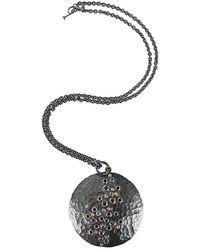 Annie Fensterstock - Diamond And Sapphire Luna Pendant Necklace - Lyst