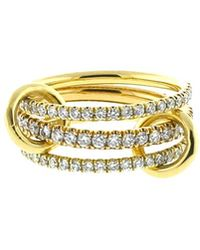 Spinelli Kilcollin - Ursula Three Link Diamond Pave Rings - Lyst
