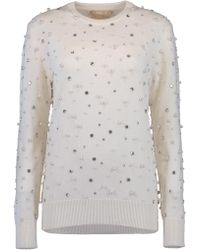 Michael Kors - Pearl Embroidered Sweater - Lyst