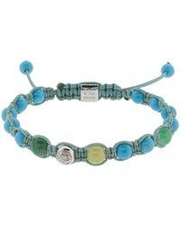 Shamballa Jewels | Turquoise Emerald And Yellow Sapphire Bracelet | Lyst