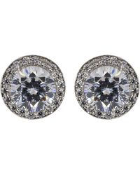 Fantasia Jewelry - Cubic Zirconia Round Pave Earrings - Lyst