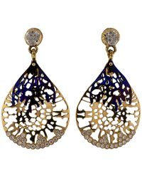 Federica Rettore - Gorgonia Diamond And Titanium Earrings - Lyst