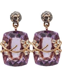 Federica Rettore - Amethyst Drop Earrings - Lyst