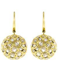 Sidney Garber - Diamond Honeycomb Drop Earrings - Lyst
