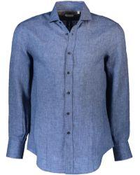 Brunello Cucinelli - Linen Solid Shirt - Lyst