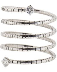 Mattia Cielo - Rugiada Diamond End Five Wrap Ring - Lyst