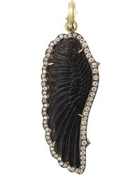 Sylva & Cie - Hand-carved Onyx Wing Pendant - Lyst