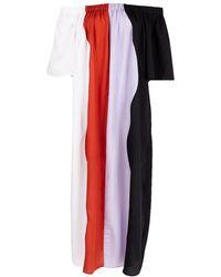 Mara Hoffman - Sala Off-the-shoulder Wavy-stripe Swim Coverup Maxi Dress - Lyst