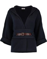 Brunello Cucinelli - Hooded Cardigan - Lyst