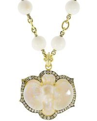 Sylva & Cie - Hand Carved Opal Orchid Pendant - Lyst