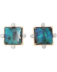 Pamela Huizenga - Boulder Opal Stud Earrings - Lyst