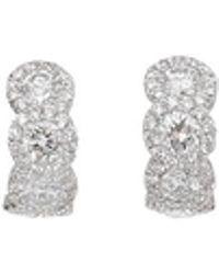 Inbar - Diamond Huggie Earrings - Lyst