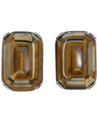 Silvia Furmanovich - Marquetry Diamond Earrings - Lyst