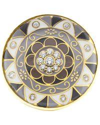 Buddha Mama - Mandala Rock Crystal And Enamel Ring - Lyst