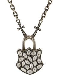Sevan Biçakci - Large Rose Diamond Lock Pendant - Lyst