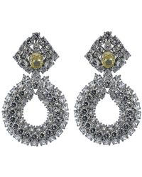 Fantasia Jewelry - Three Row Drop Earrings - Lyst