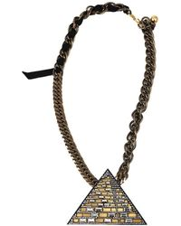 Lanvin - Luxor Pyramid Necklace - Lyst