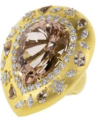 Buddha Mama - Pear Shaped Morganite Ring - Lyst