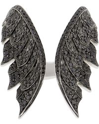 Stephen Webster - Magnipheasant Black Diamond Open Feather Ring - Lyst