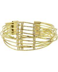 Boaz Kashi - Diamond Wire Wrap Cuff Bracelet - Lyst