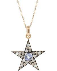 Sylva & Cie - Caylon Sapphire And Diamond Star Pendant - Lyst
